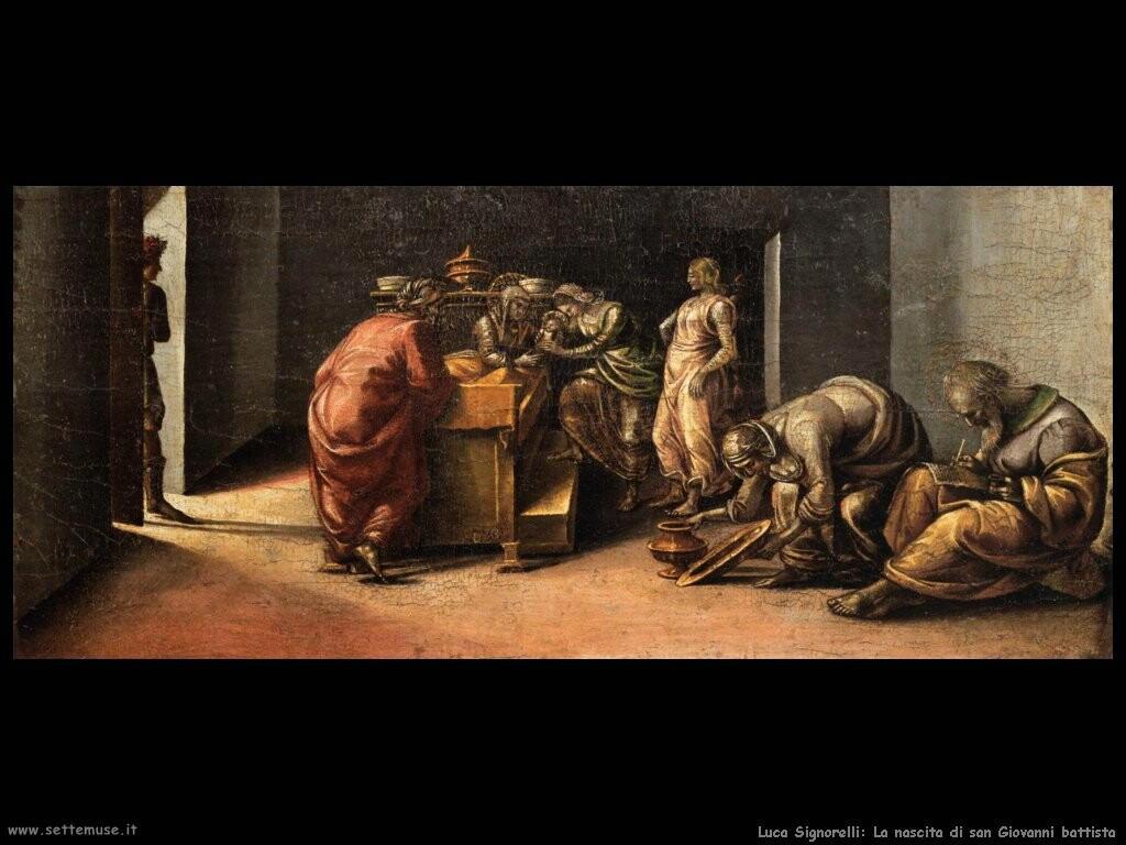 Signorelli Luca  - la nascita di san Giovanni il battista