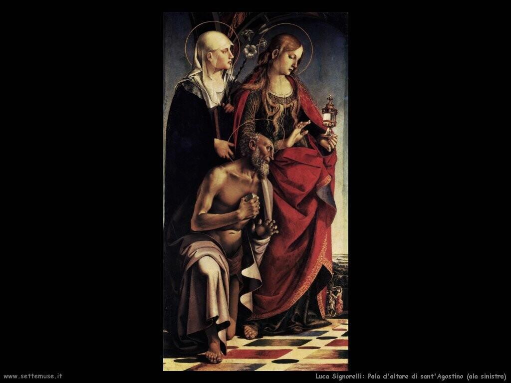 Signorelli Luca  sant'Agostino pala d'altare ala sinistra