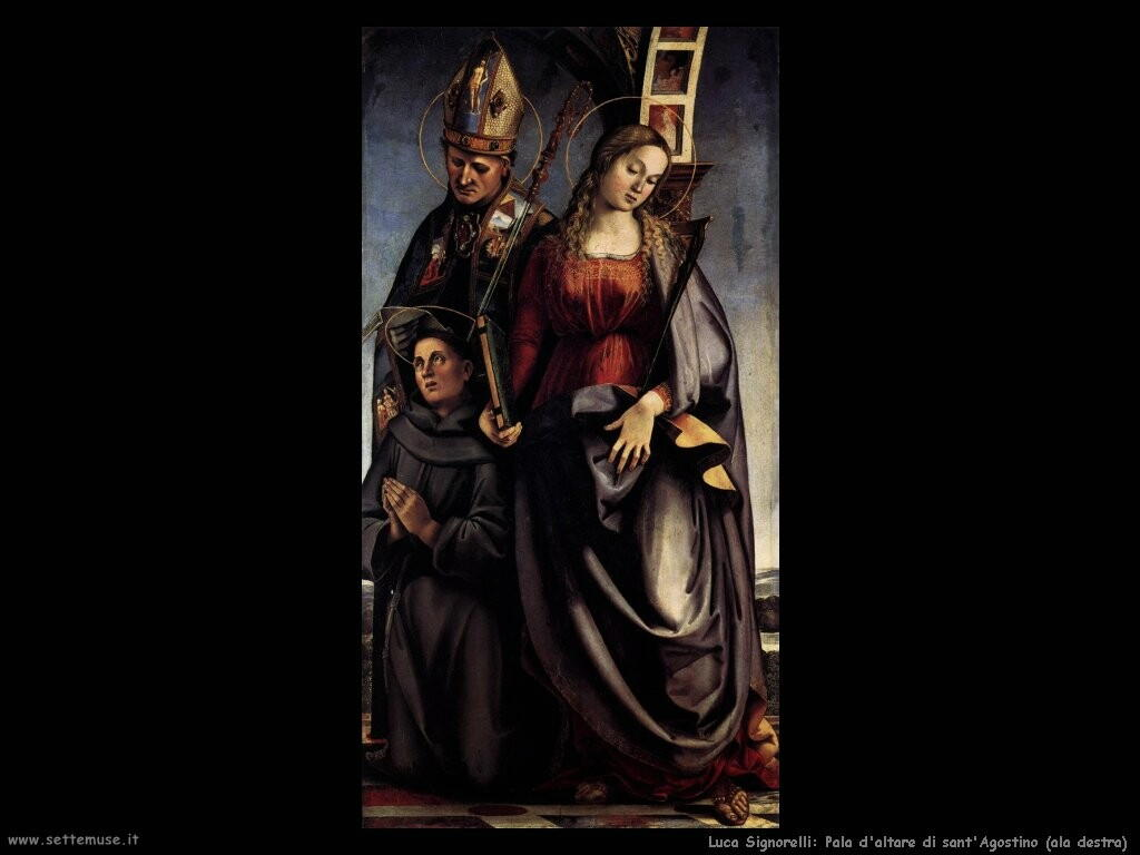 Signorelli Luca - sant'Agostino pala d'altare ala destra