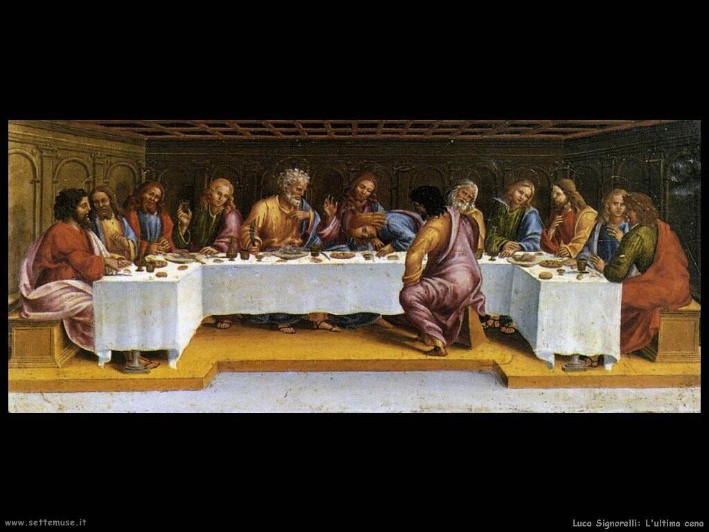Signorelli Luca - l'ultima cena