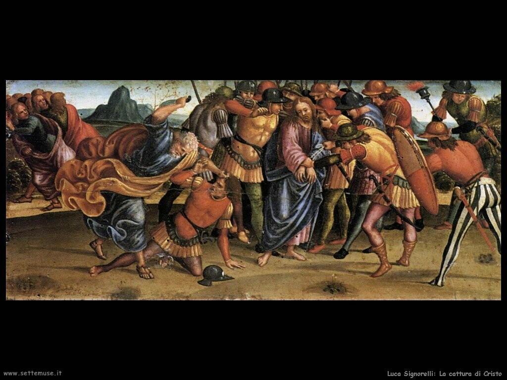 Signorelli Luca - la cattura di Cristo