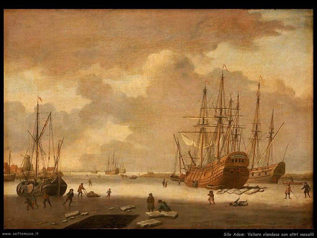 Silo Adam Una baleniera olandese e altre navi nel ghiaccio
