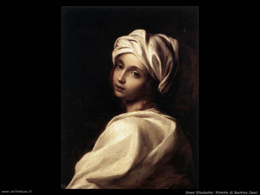 Sirani Elisabetta Ritratto di Beatrice Cenci