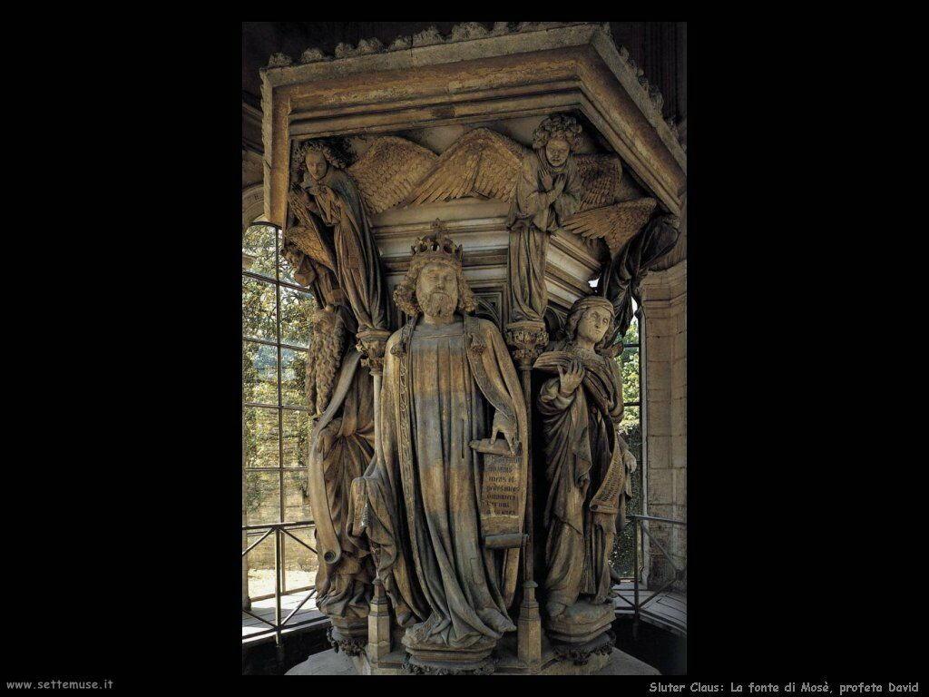 Sluter Claus Colonna di Mosè - Profeta David