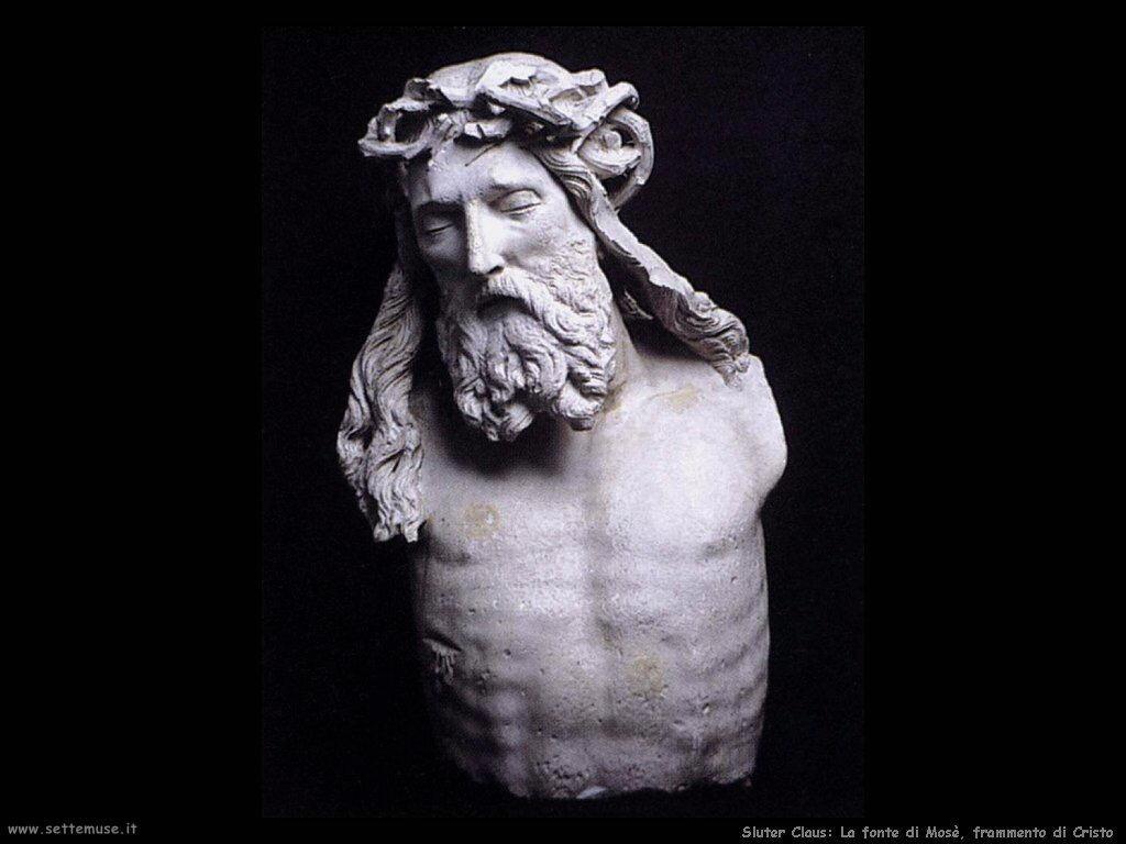 Sluter Claus Colonna di Mosè - Frammento di Cristo