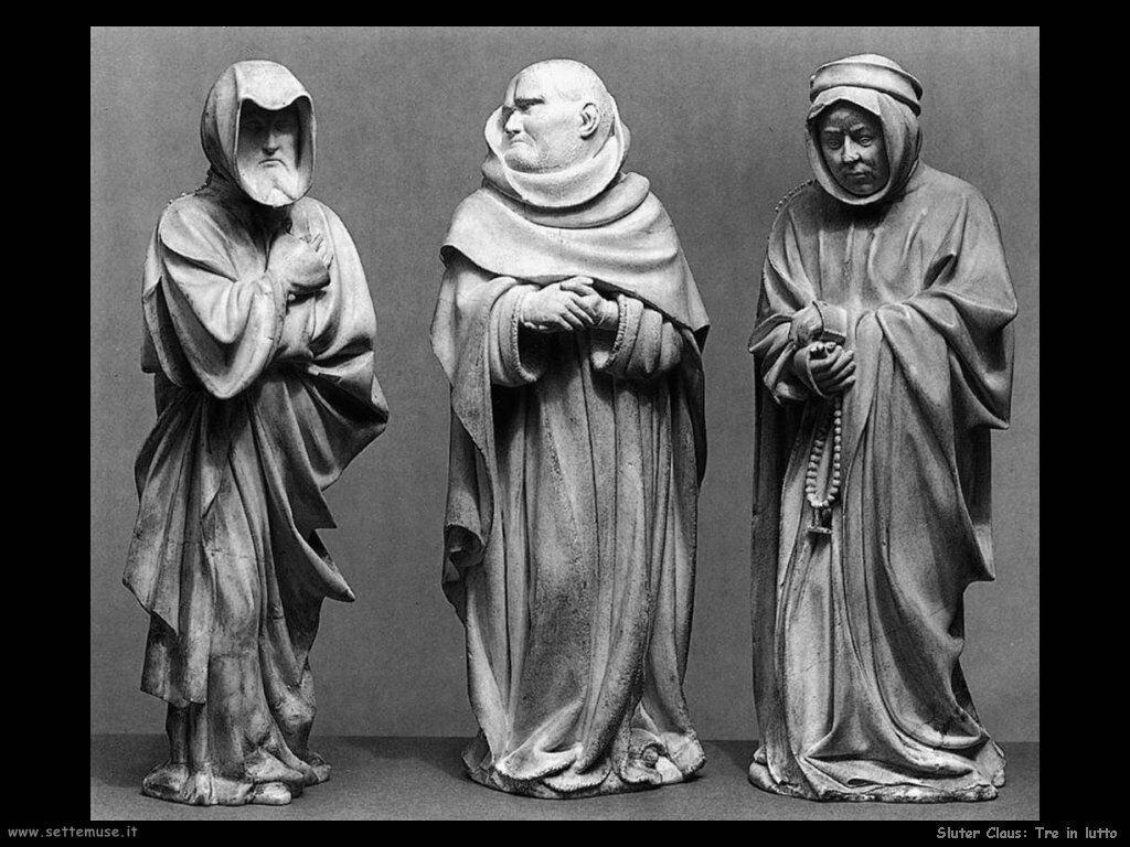 Sluter Claus Tre persone in lutto