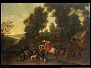 Snayers Pieter Sosta di cavalieri nella foresta