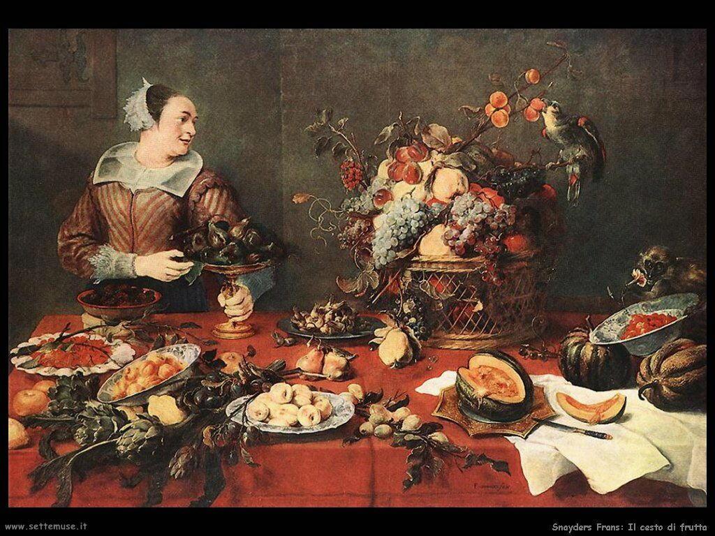 Snyders Frans Cesto di frutta