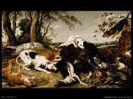 Snyders Frans Cacciatore cattura un cinghiale