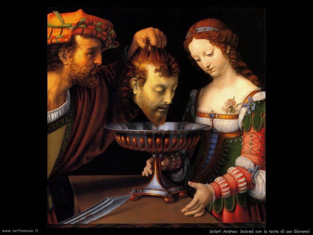 Solario Andrea Salomè con la testa di Giovanni Battista