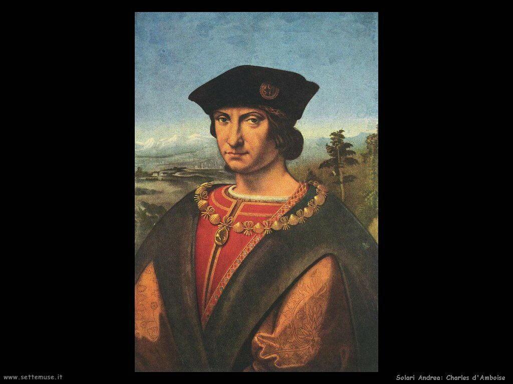 Solario Andrea Ritratto di Charles d'Amboise