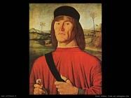 Solario Andrea Uomo con un garofano rosa
