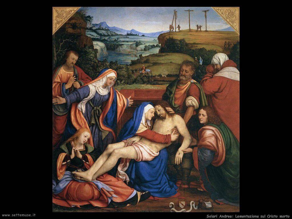 Solario Andrea Compianto sul Cristo morto