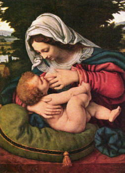 Andrea Solario: Madonna con cuscino verde