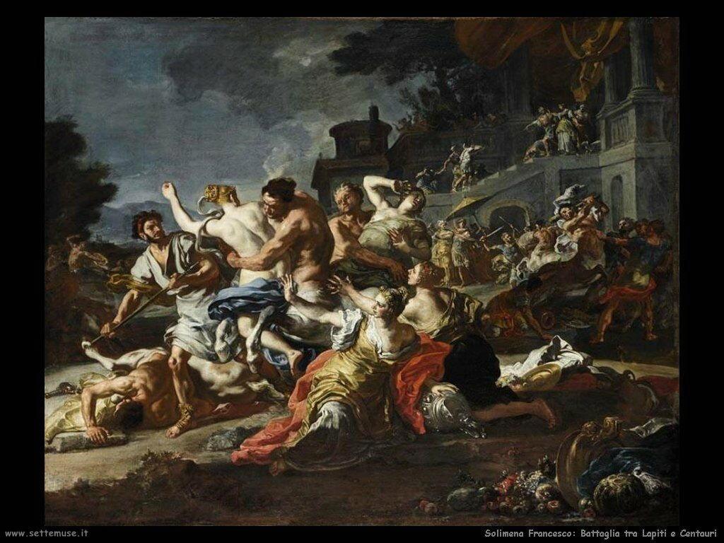 Solimena Francesco Battaglia fra Lapiti e Centauri