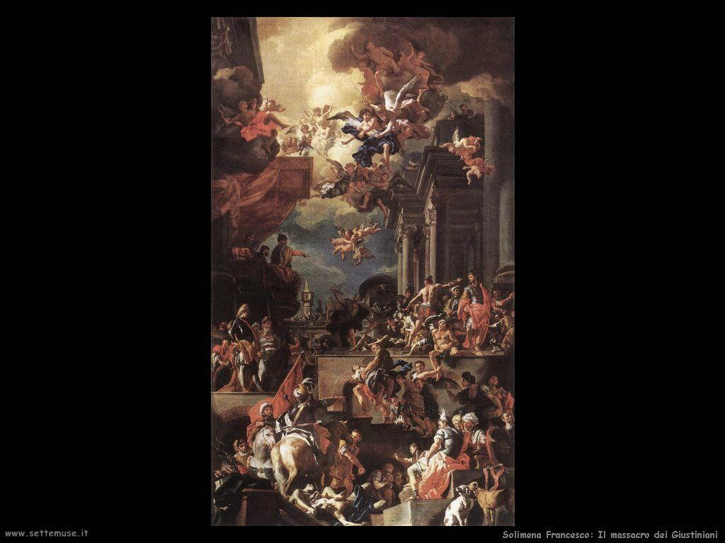 Solimena Francesco Massacro dei Giustiniani
