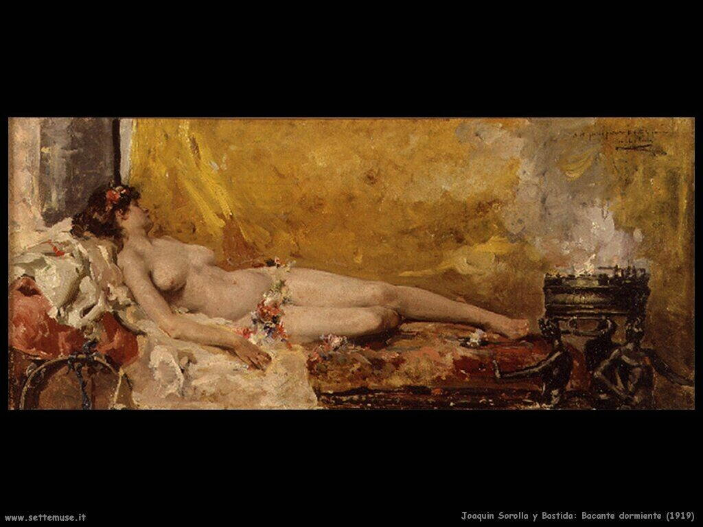 Bacante dormiente (1919)
