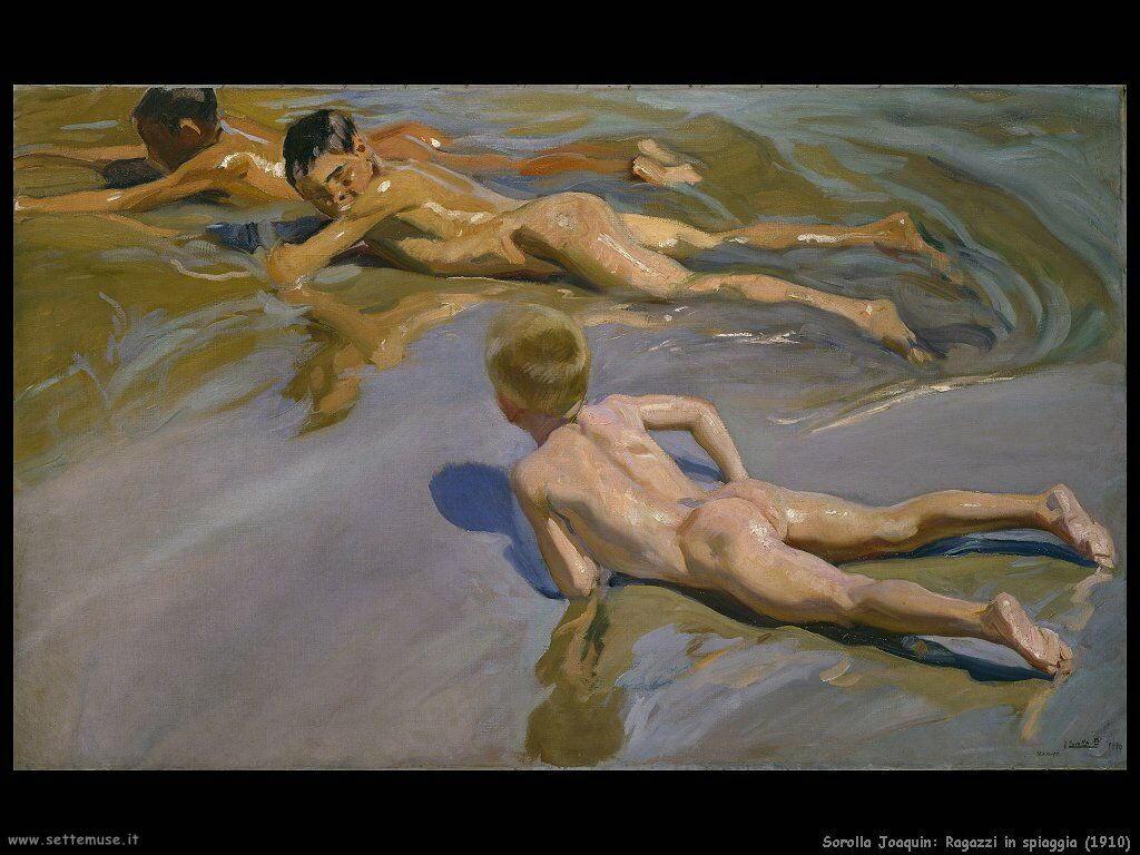 Ragazzi in spiaggia (1910)
