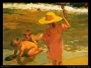 Bambini in riva al mare
