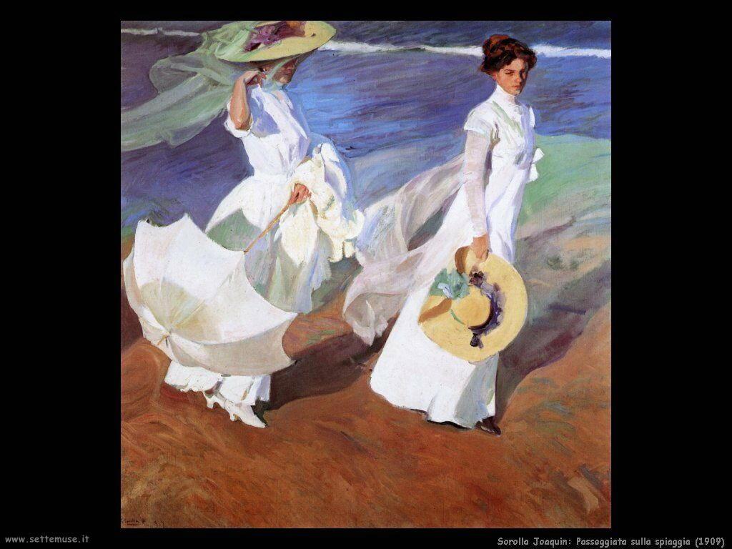 Passeggiata sulla spiaggia (1909)