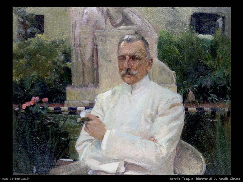 Ritratto di D. Amalio Gimeno