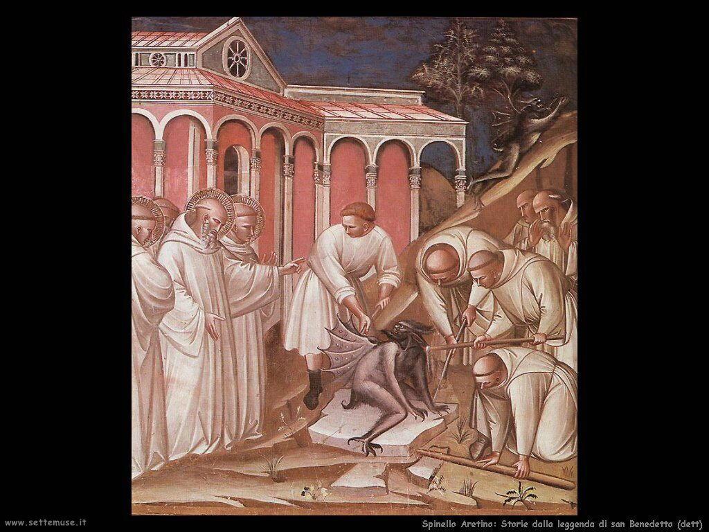 Spinello Arretino Storie dalla leggenda  di San Benedetto