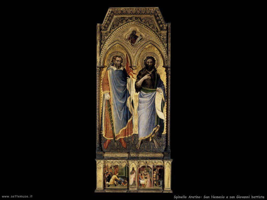 Spinello Arretino San Nemesius e San Giovanni il Battista