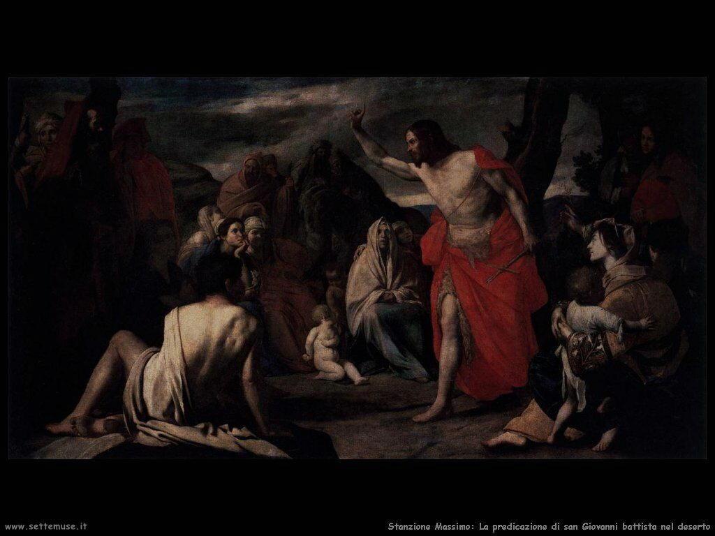 Stanzione Massimo Predicazione di San Giovanni Battista