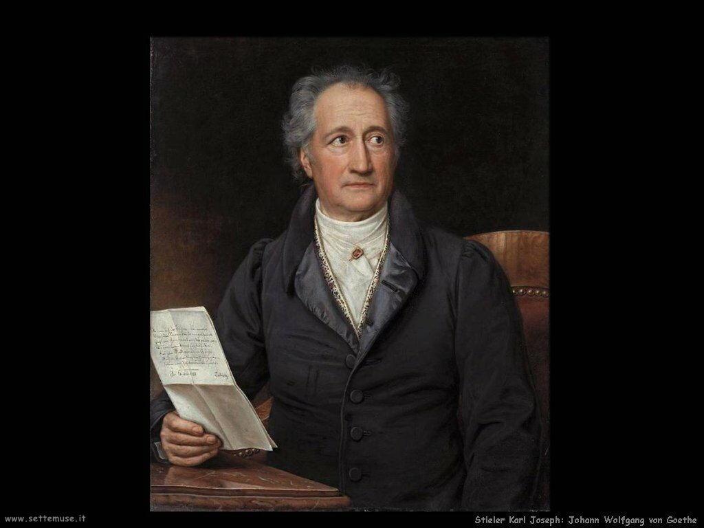 Stieler Karl Joseph Johann Wolfgang Goethe