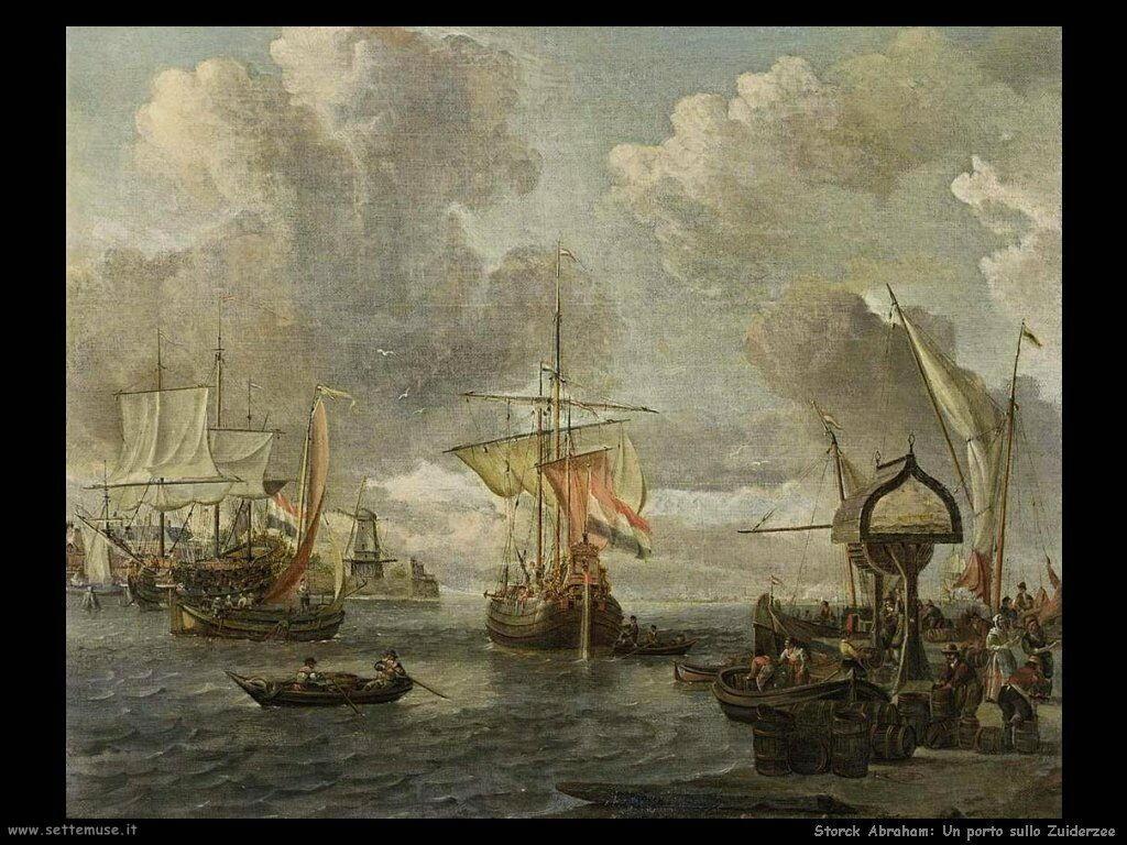 Storck Abraham Porto sullo Zuiderzee