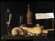 Stoskopff Sebastien Natura morta con statuetta e conchiglia