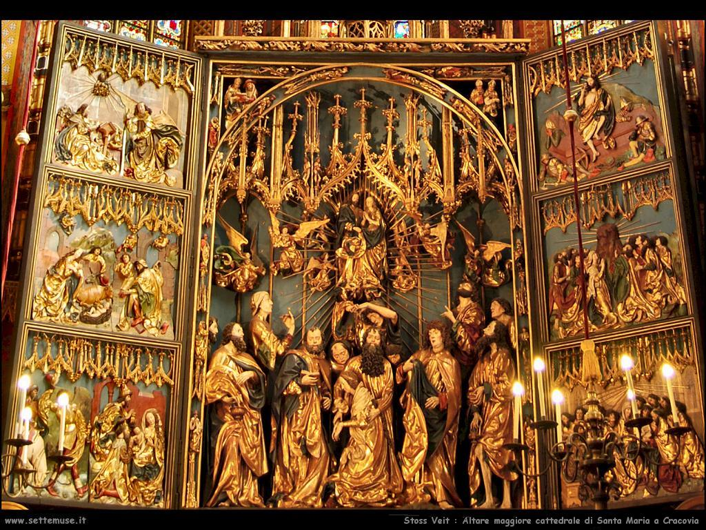 Stoss Veit Altare maggiore cattedrale di St.Maria a Cracovia