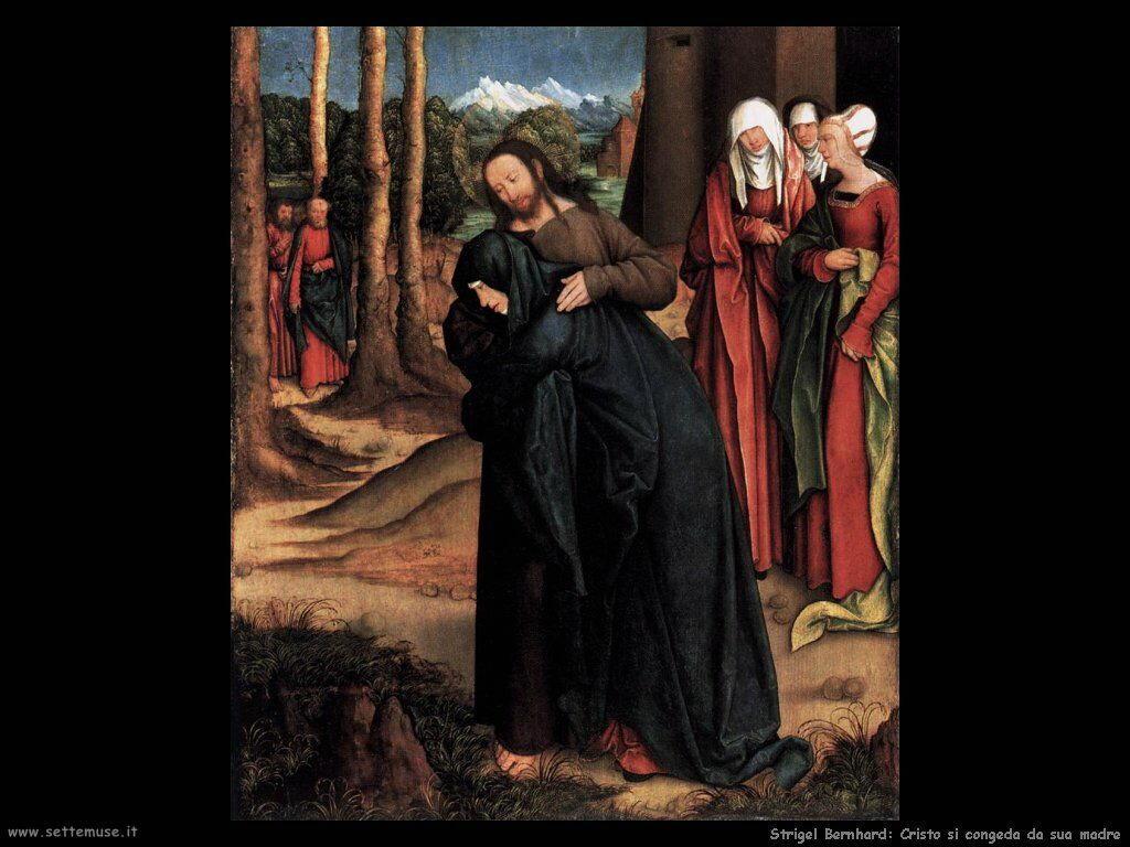 Strigel Bernhard Cristo si congeda da sua madre