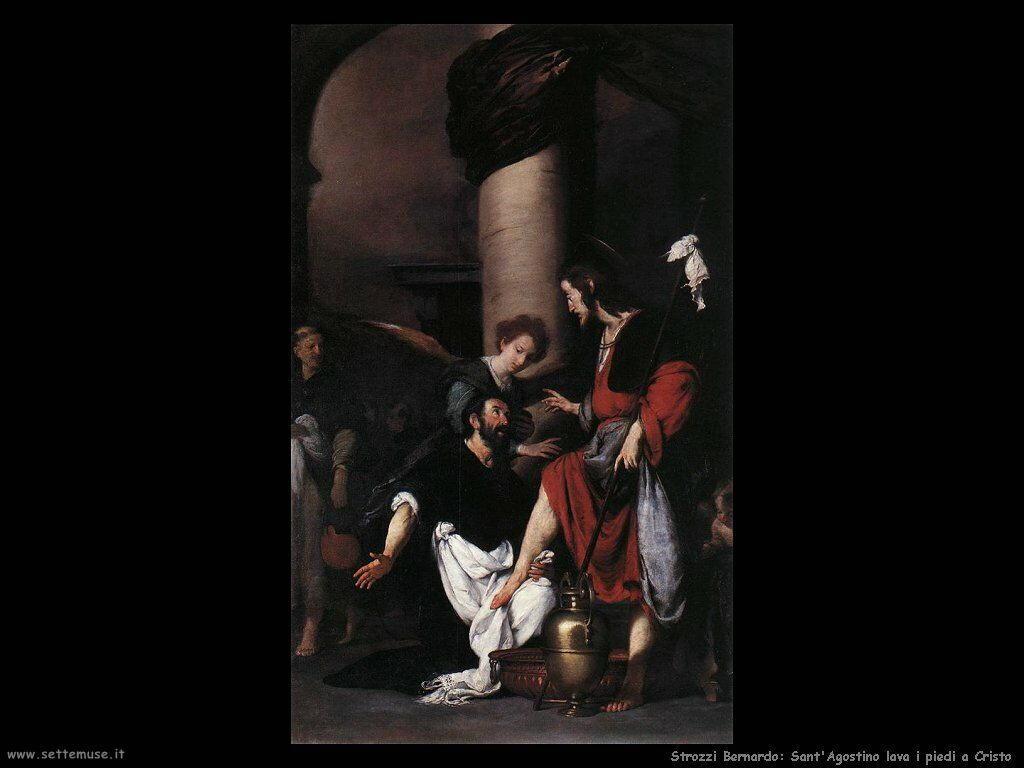 Strozzi Bernardo Sant'Agostino lava i piedi a Cristo