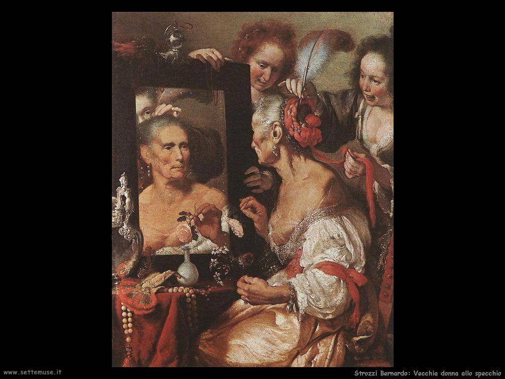 Strozzi Bernardo Vecchia allo specchio