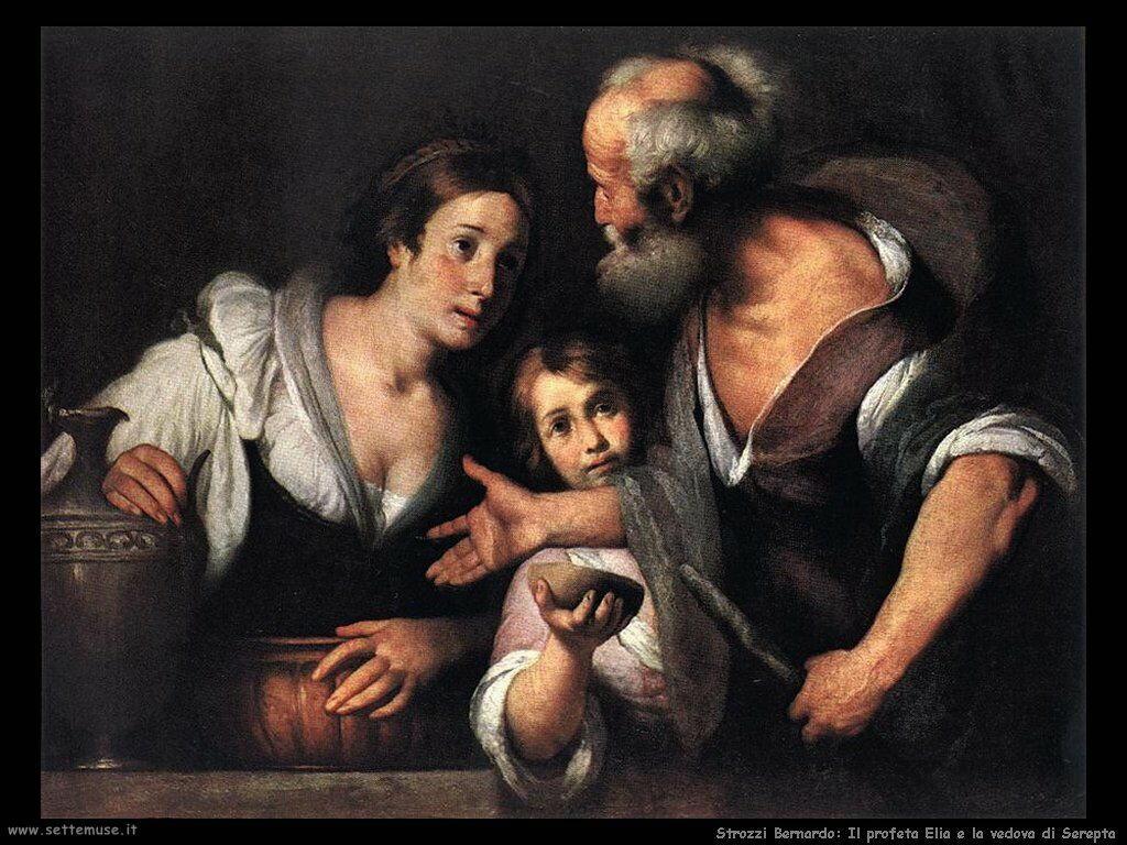 Strozzi Bernardo Il profeta Elia e la vedova