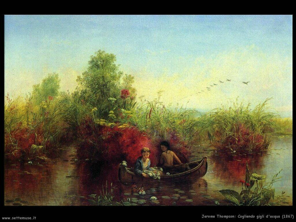 thompson jerome   gathering_waterlilies_1867