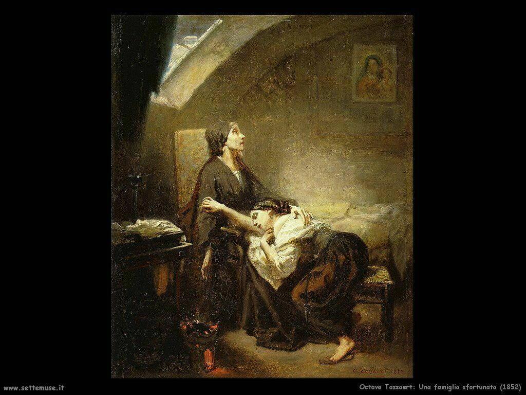 Tassaert Octave Una sfortunata famiglia (1852)