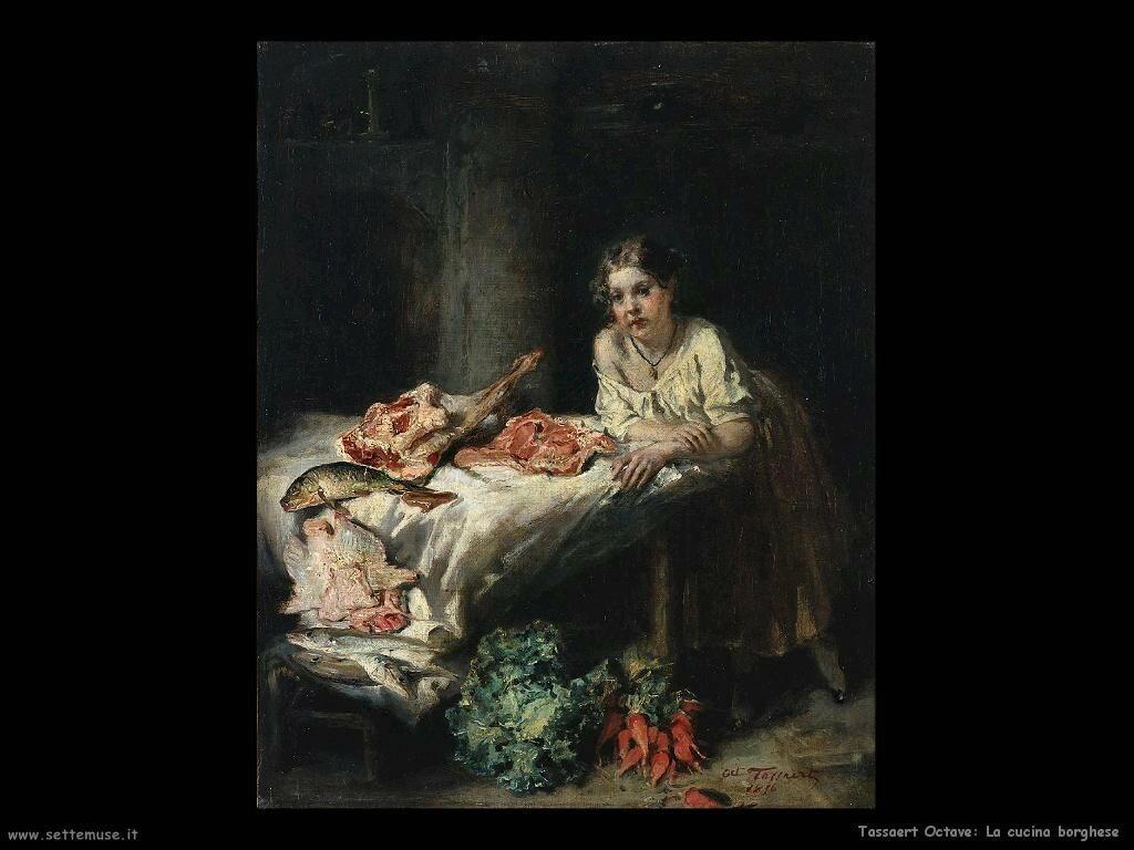 Tassaert Octave La cucina borghese (1854)