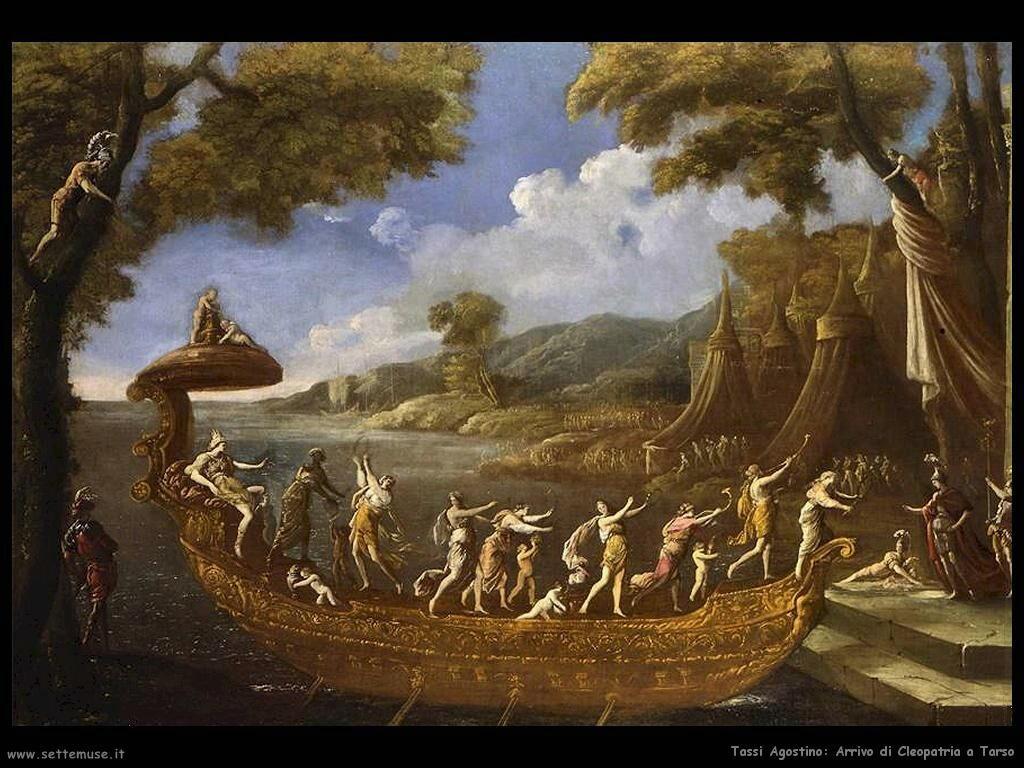 Tassi Agostino Arrivo di Cleopatra a Tarso