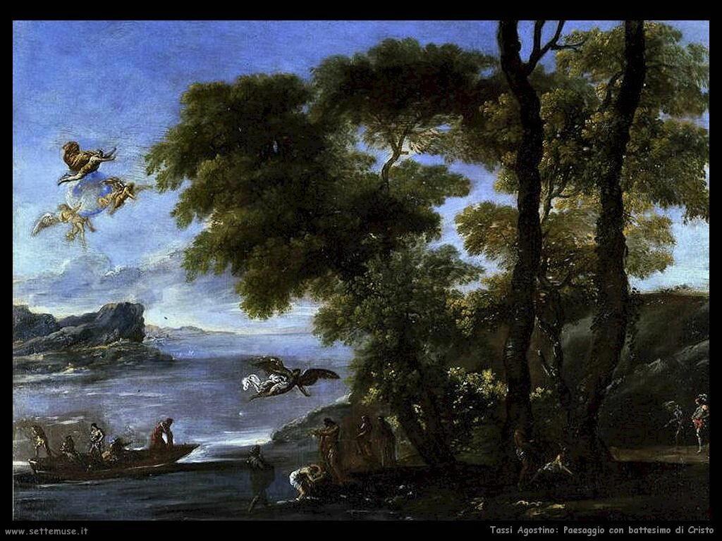 Tassi Agostino Paesaggio con battesimo di Cristo