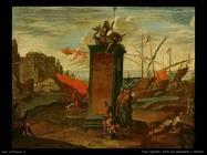 Tassi Agostino Porto con monumento di Nettuno