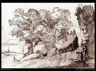 Tassi Agostino Paesaggio sul Fiume