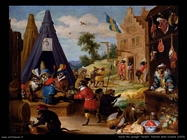 Teniers David Festival delle scimmie (1633)