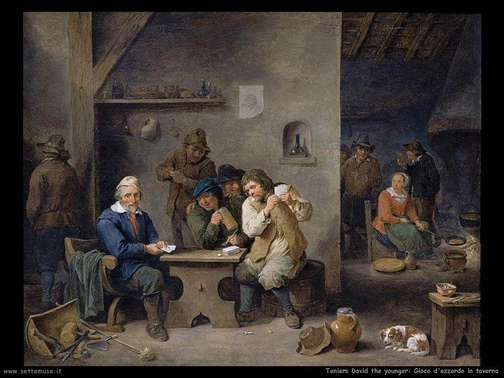 Teniers David the Youngers Giocatori d'azzardo nella taverna