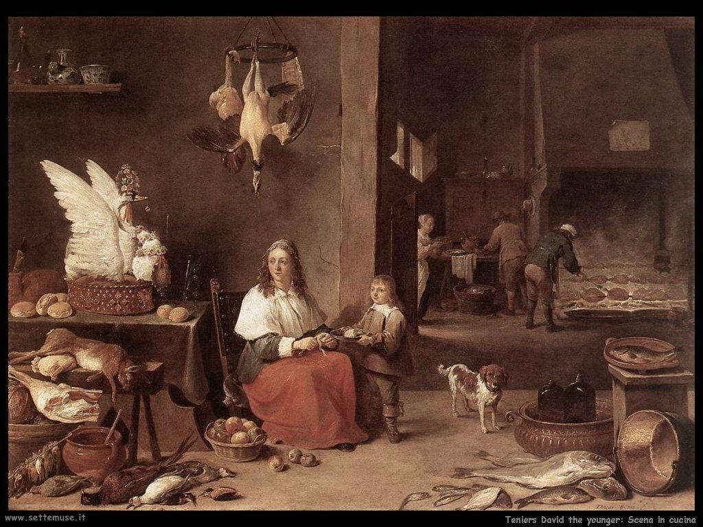 Teniers David the Youngers Scena di cucina