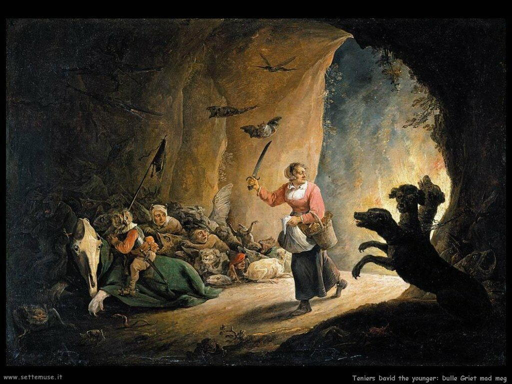 Teniers David the Youngers Battaglia fra Griet e la pazza Meg
