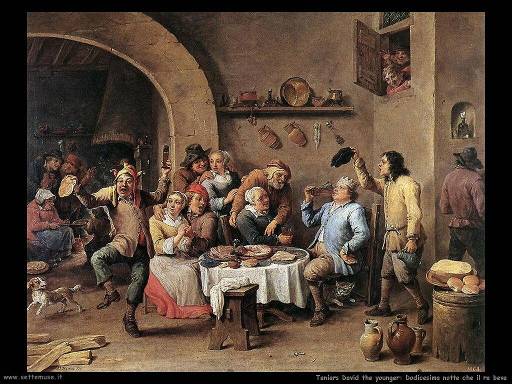 Teniers David the Youngers La dodicesima notte del re bevitore