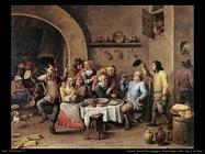 Teniers David the Youngers La dodicesima notte del re bevitore