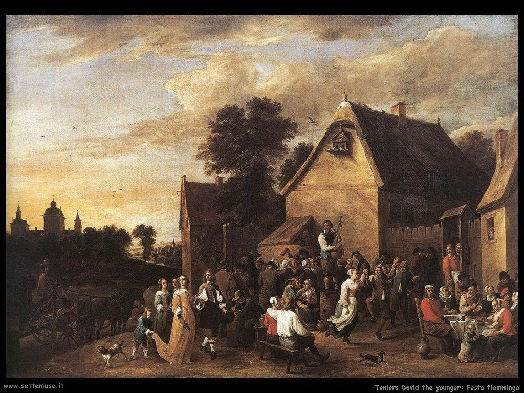 Teniers David the Youngers Festa fiamminga